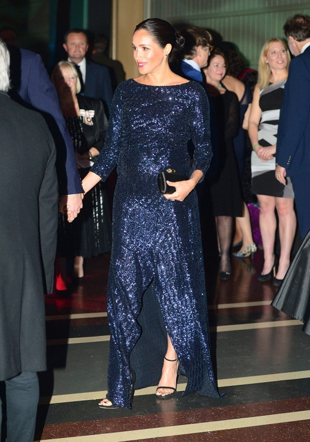 Meghan Markle Dazzles In Glittery Gown And Wears Princess