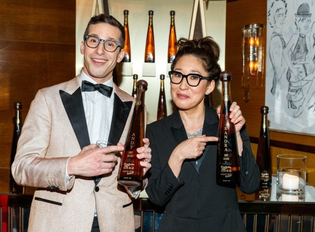 Sandra Oh & Andy Samberg Golden Globes after-party