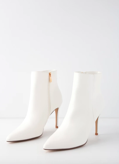 Lulus white booties