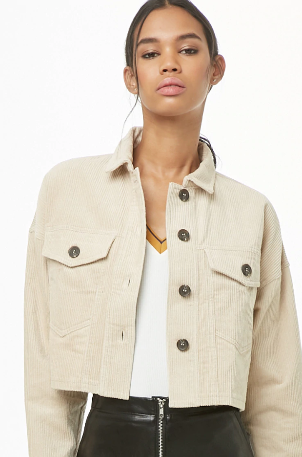 Forever 21 corduroy cropped jacket
