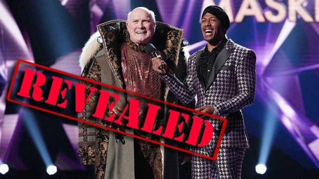Terry Bradshaw and host Nick Cannon on 'The Masked Singer'