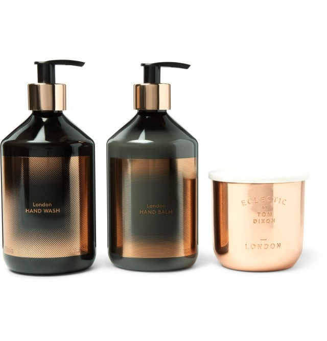 Tom Dixon London candle handwash balm gift set