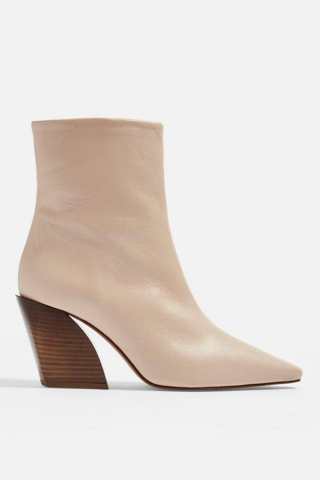 Topshop beige leather boots