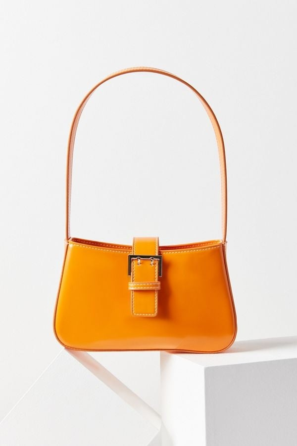 Urban Outfitters orange baguette bag