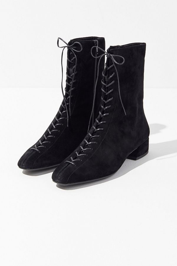 Vagabond suede lace-up booties