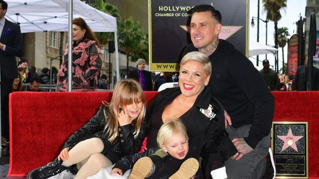Pink and family at Hollywood Walk of Fame ceremony