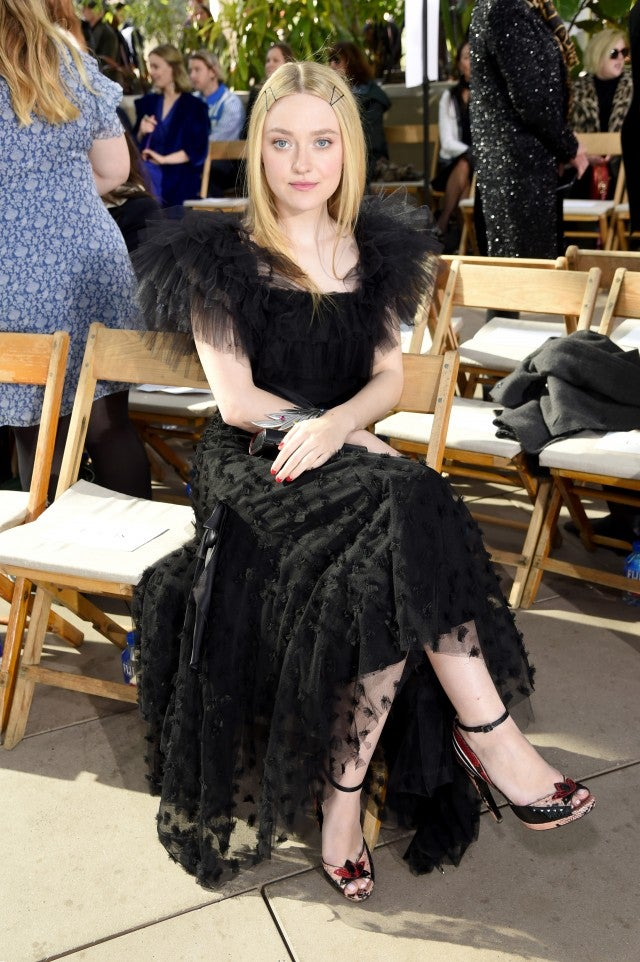 Dakota Fanning at Rodarte fall 2019 show