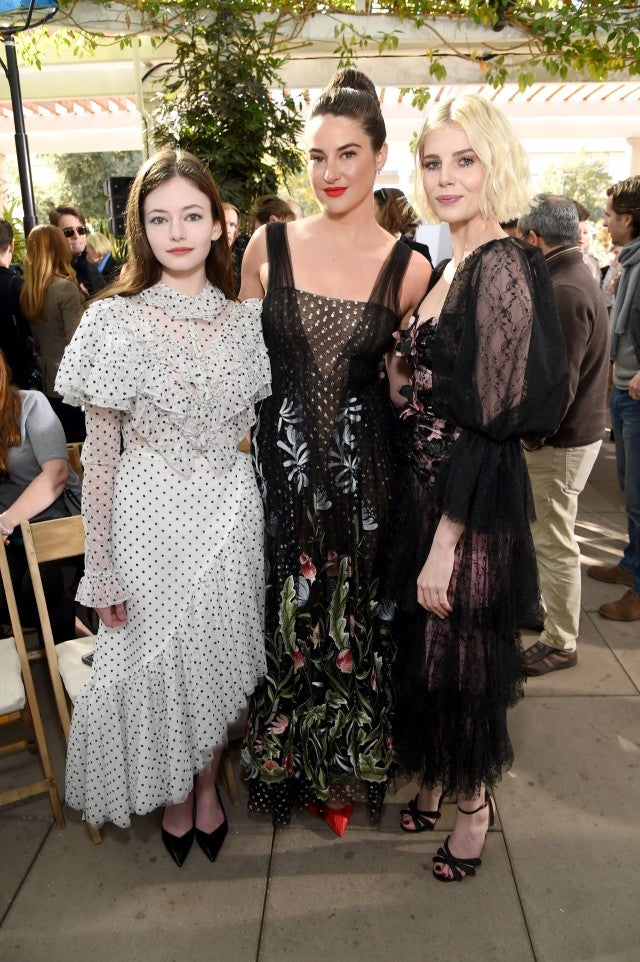 Mackenzie Foy, Shailene Woodley and Lucy Boynton at Rodarte show