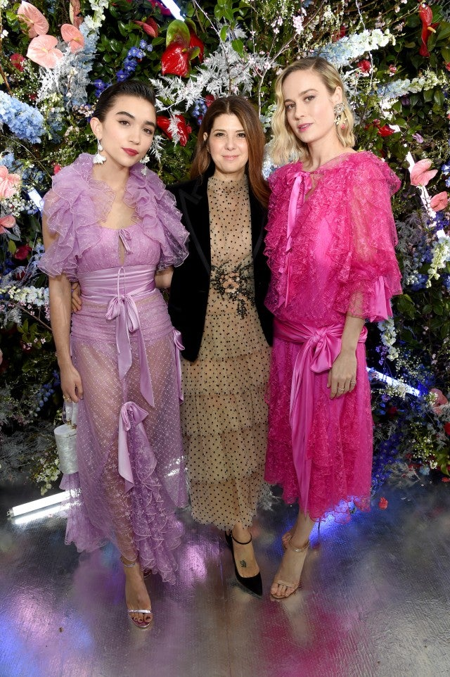 Rowan Blanchard, Marisa Tomei and Brie Larson at Rodarte fall 2019 show