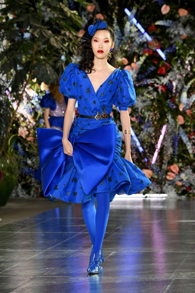 Rodarte blue bow dress