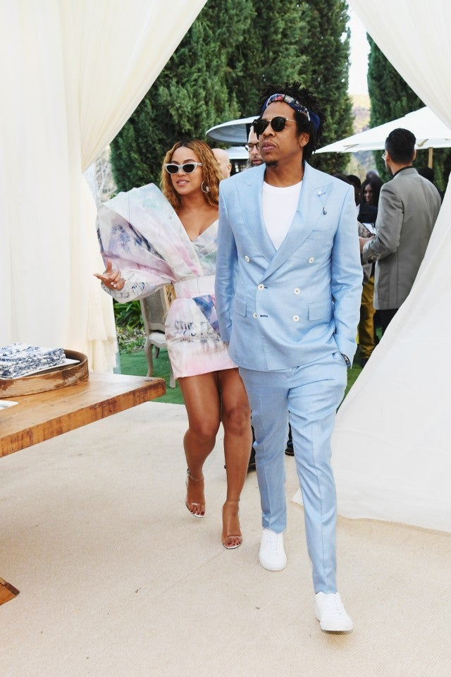 8d78ebb89cd Beyoncé and JAY-Z Color Coordinate in Stylish Pastel Looks for Roc ...