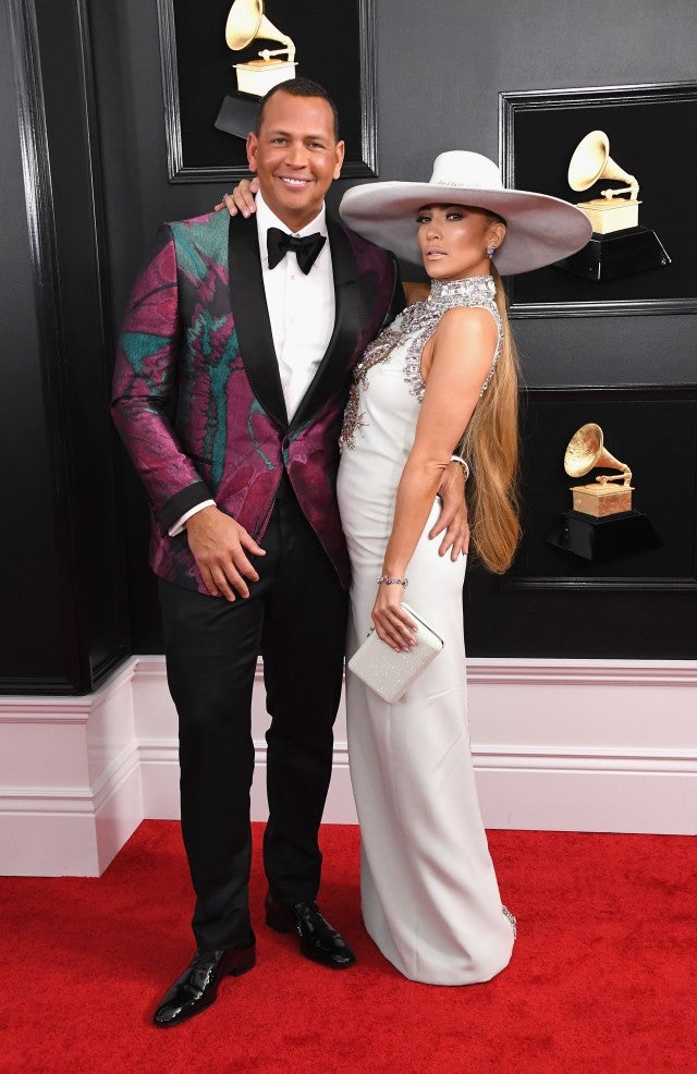 Alex Rodriguez and Jennifer Lopez at 2019 grammys