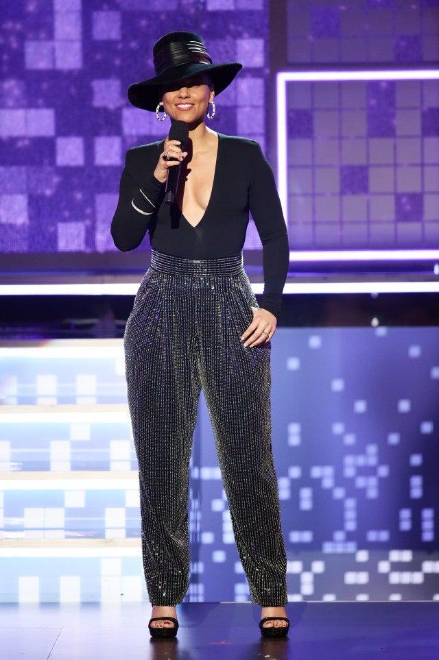 Alicia Keys at Grammys onstage