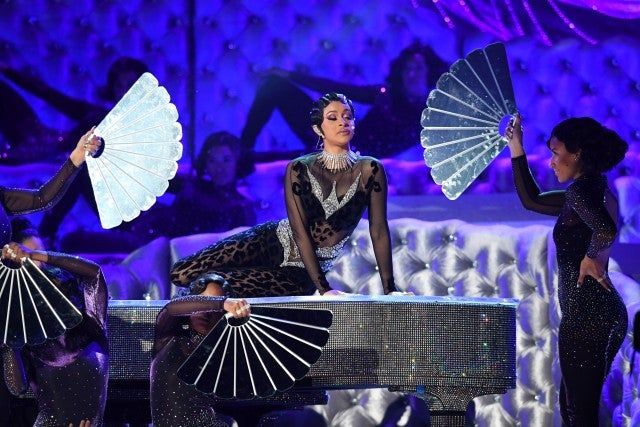 Cardi B Performs 'Money' at Grammys