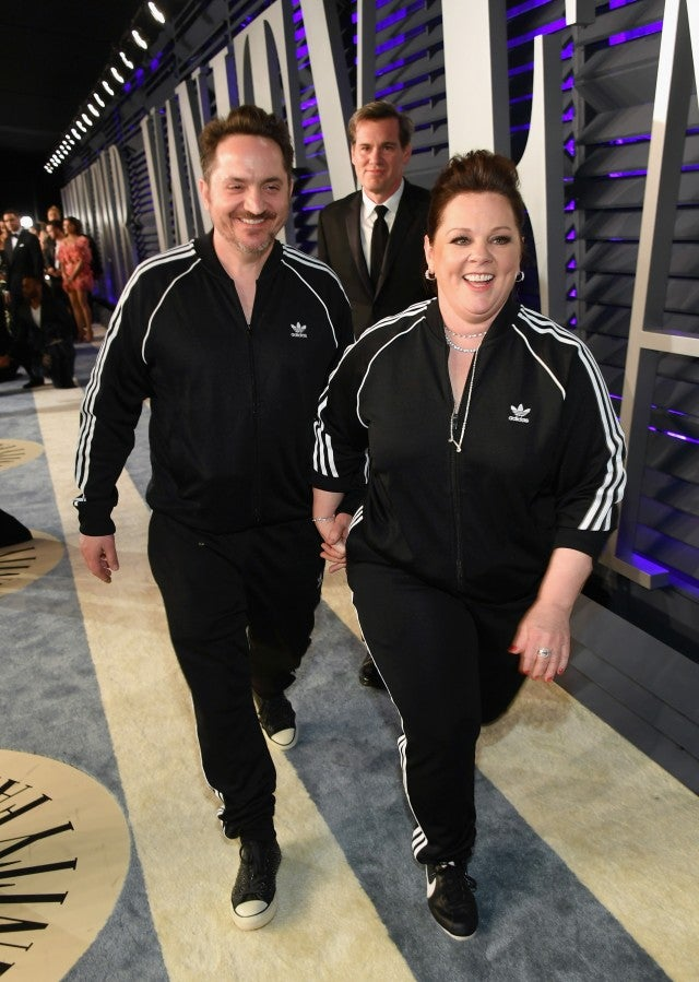 Ben Falcone and Melissa McCarthy attend the 2019 Vanity Fair Oscar Party hosted by Radhika Jones at Wallis Annenberg Center for the Performing Arts on February 24, 2019.