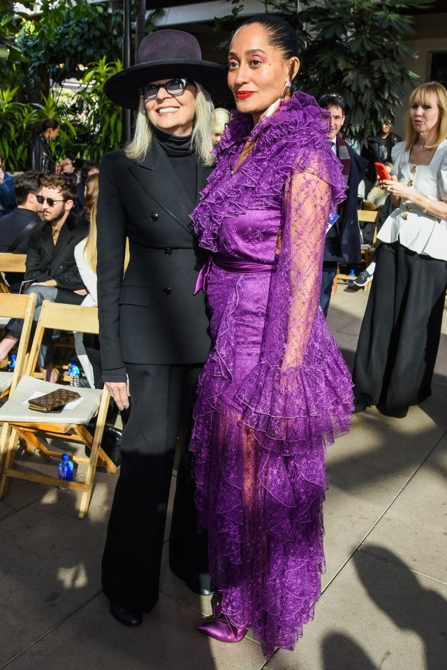 Diane Keaton and Tracee Ellis Ross at Rodarte show