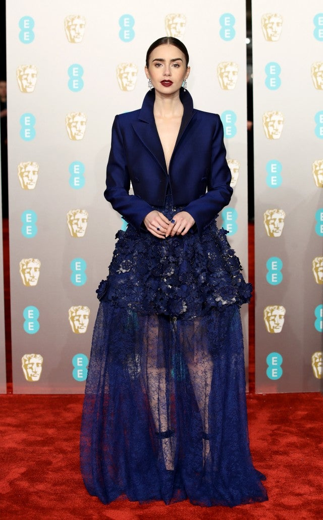 Lily Collins at BAFTAs 2019