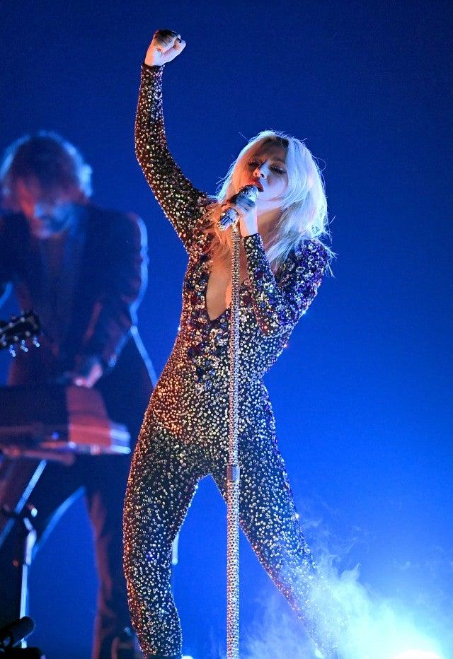 Lady Gaga performing at 2019 Grammys