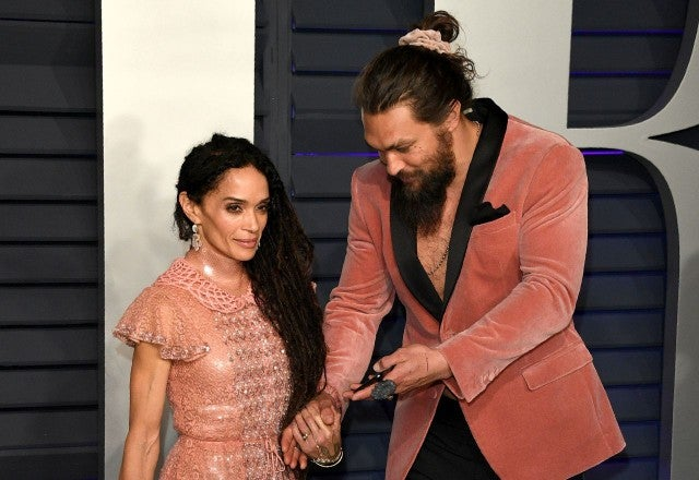 Jason Momoa and Lisa Bonet at VF Oscars Party