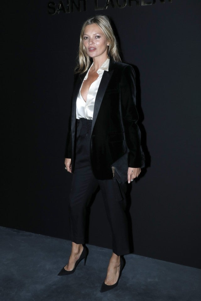 Lindsay Lohan Salma Hayek More Celebs Sit Front Row At Saint