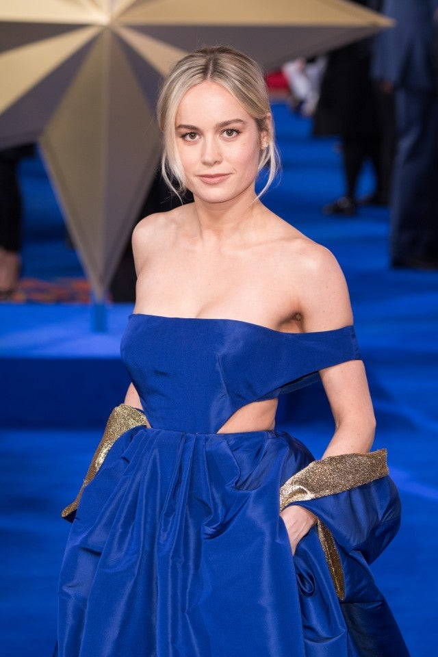 Brie Larson Wears Her Best Gown Yet At Captain Marvel