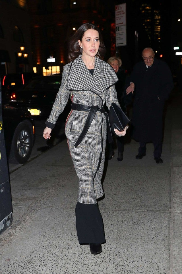 Jessica Mulroney arrives at Polo Bar to have dinner with friends in NYC