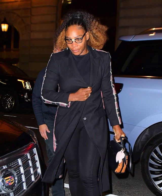 Serena Williams arrives at Polo Bar to have dinner with friends in NYC