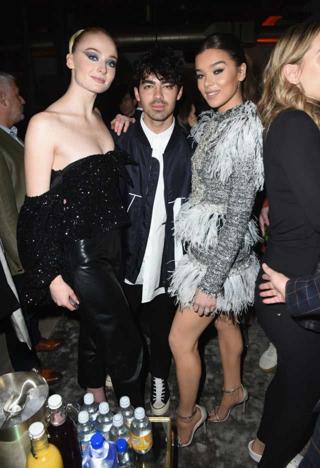 Sophie Turner, Joe Jonas & Hailee Steinfeld at grammys after party