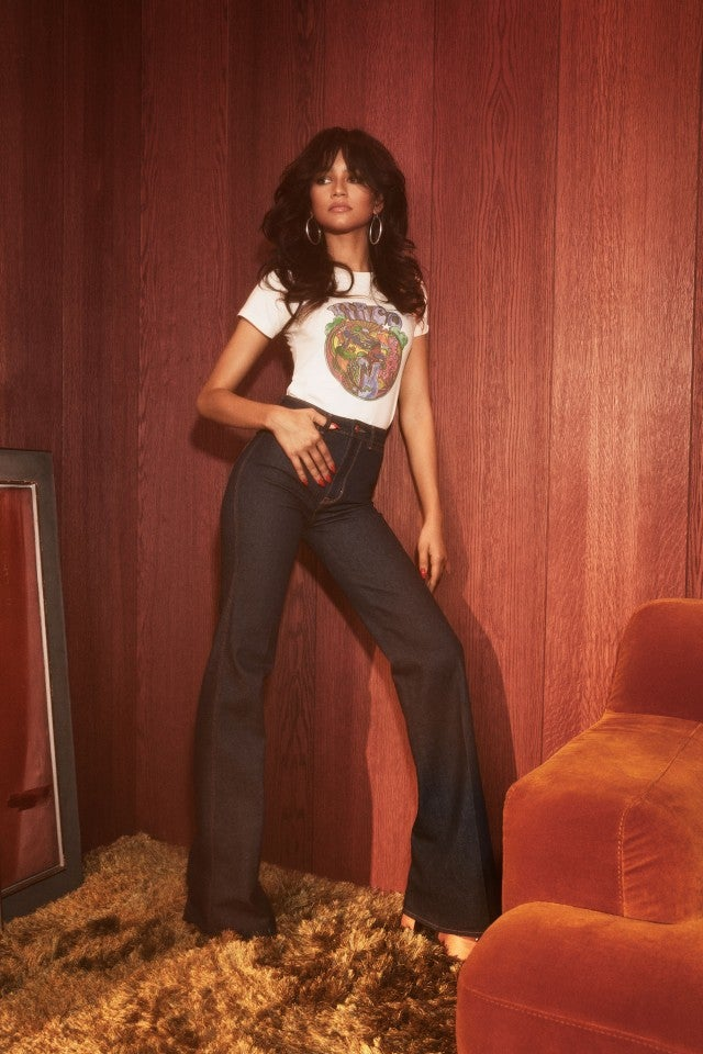 Zendaya x Tommy Hilfiger tee and jeans