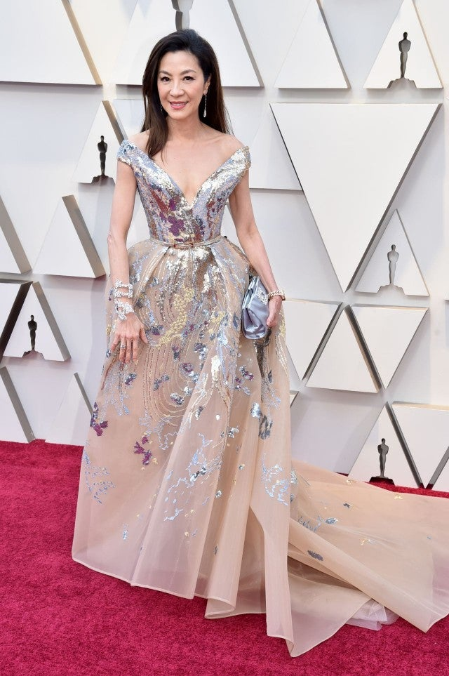 Image result for michelle yeoh at the 2019 oscars