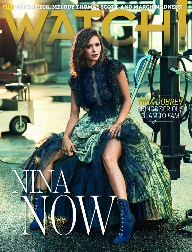 Nina Dobrev covers CBS Watch! Magazine