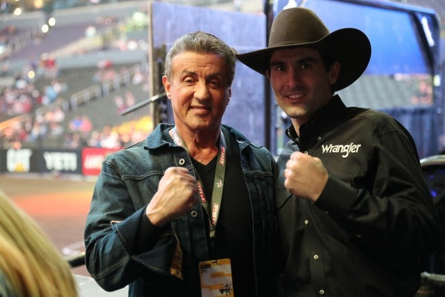 Sylvester Stallone professional bull riding event