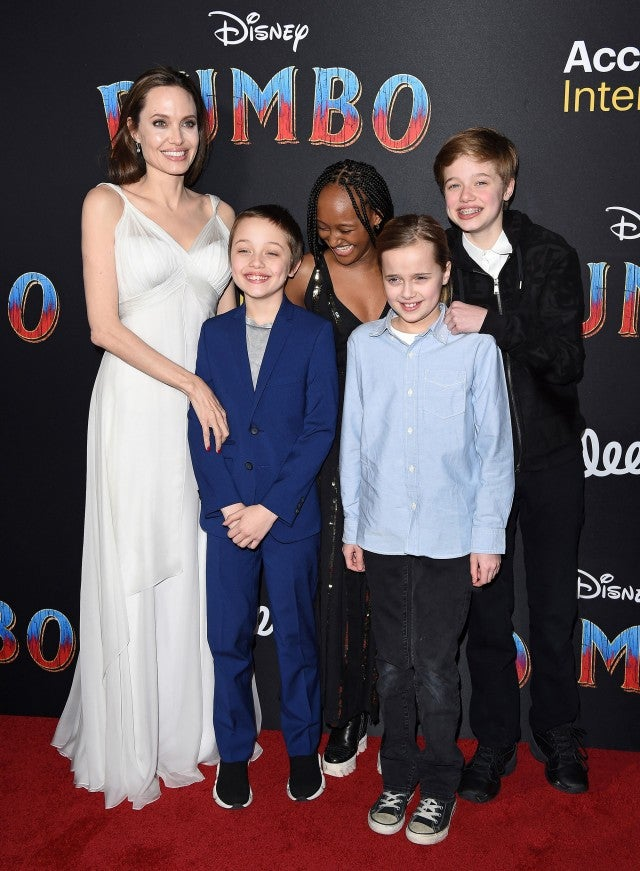 Angelina Jolie and kids attend Dumbo premiere
