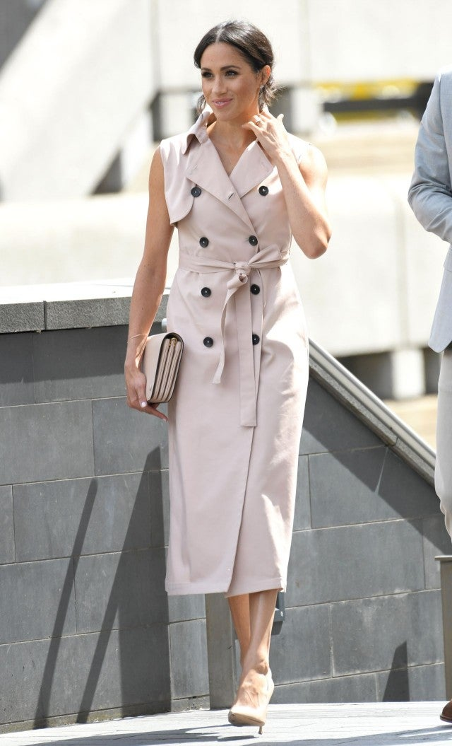 Meghan Markle in trench dress