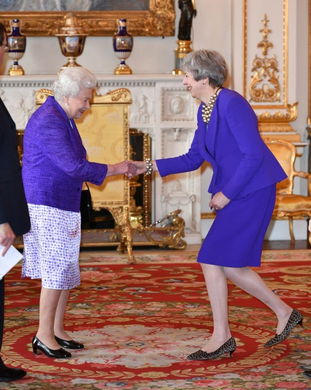 Queen Elizabeth and Theresa May