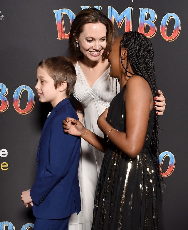 Angelina Jolie and children attend Dumbo premiere