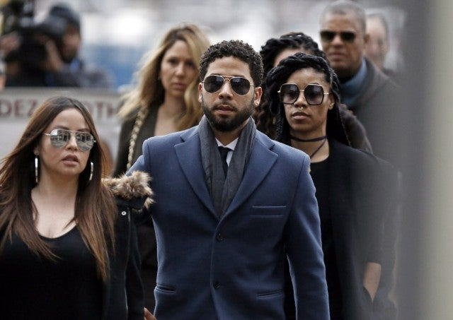 Chicago Illinois. Smollett stands accused of arranging a homophobic racist attack against himself in an attempt to raise his profile because he was dissatisfied with his