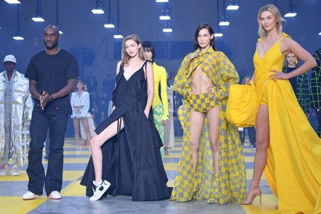 Off-White finale with Virgil Abloh, Gigi Hadid, Bella Hadid and Karlie Kloss