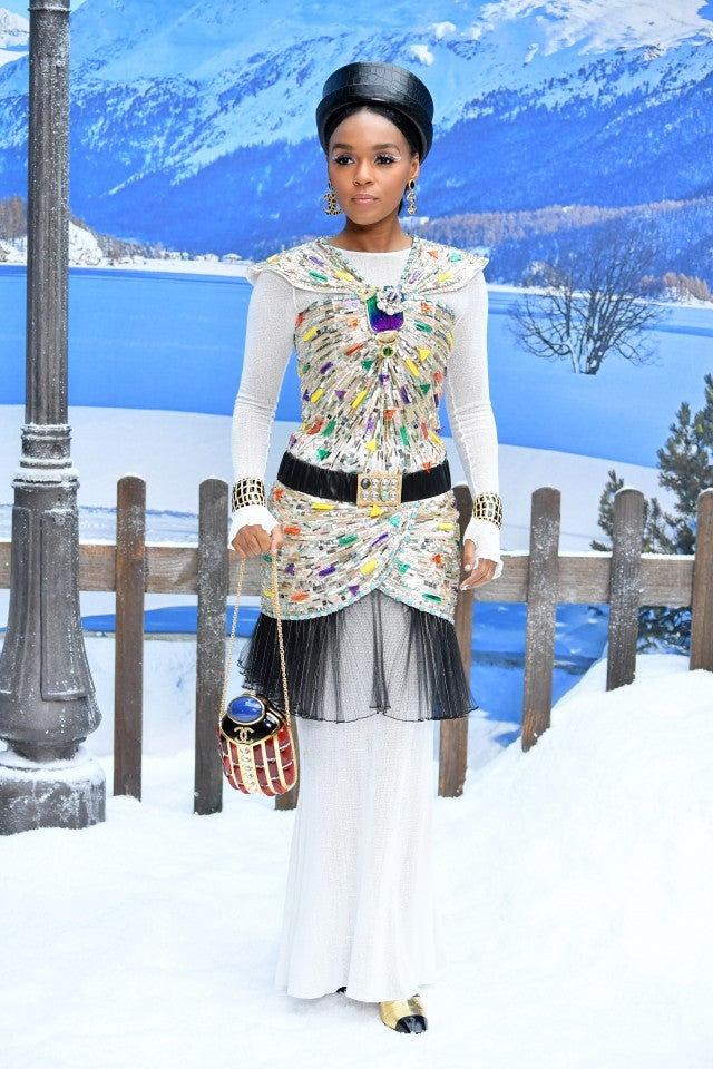 Janelle Monae at Chanel show