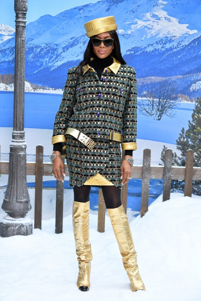 Naomi Campbell at Chanel show
