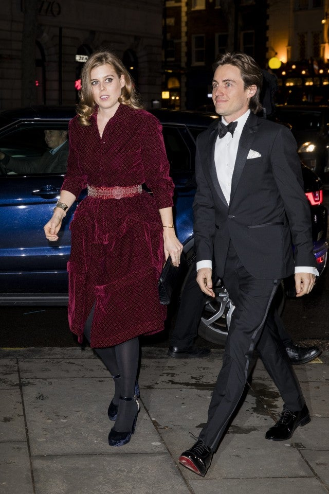 Princess Beatrice and Edoardo Mapelli Mozzi at National Portrait Gallery gala