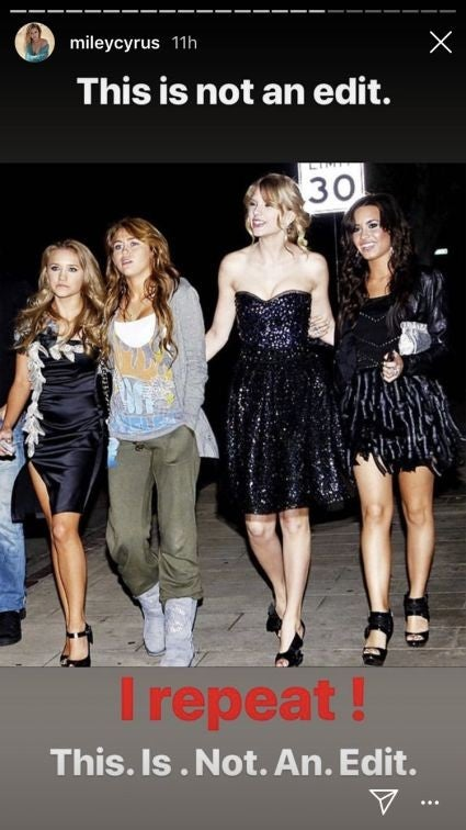 Miley Cyrus, Demi Lovato, Taylor Swift, Emily Osment