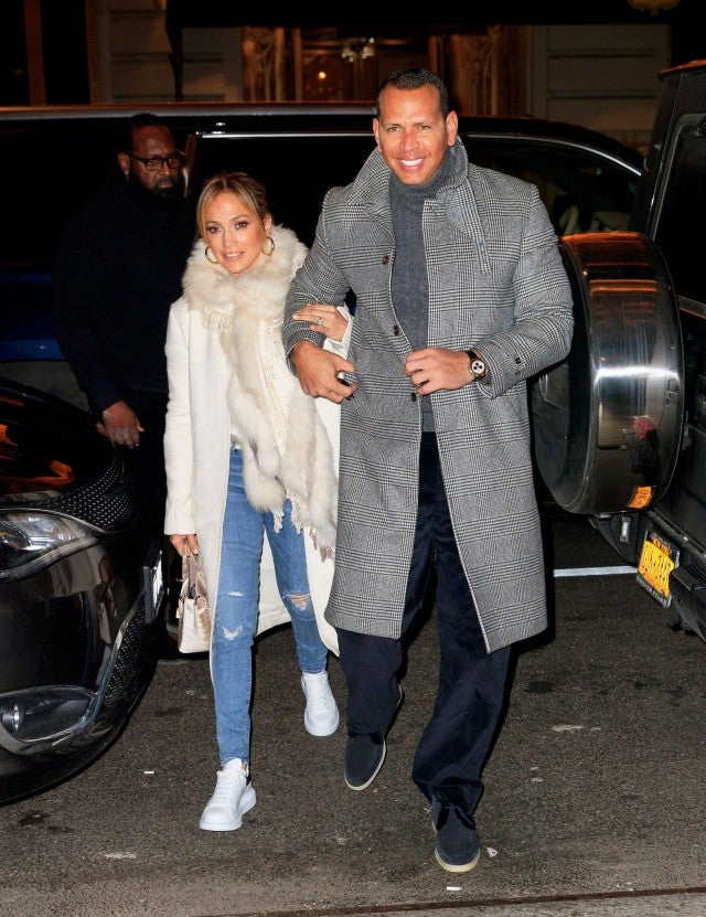 Jennifer Lopez and Alex Rodriguez in New York City on March 17