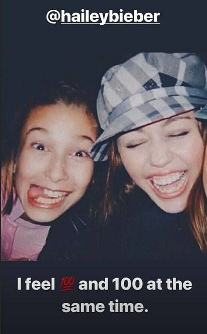 Miley Cyrus and Hailey Bieber