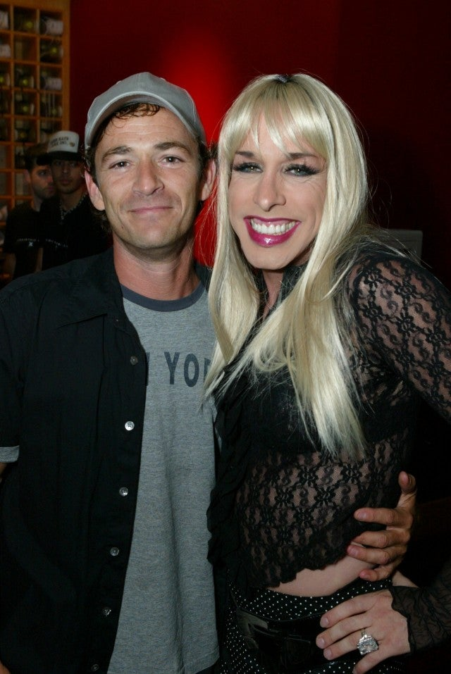 Luke Perry and Alexis Arquette