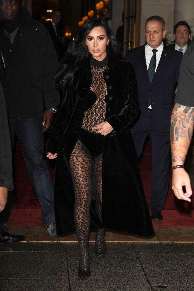 cd9cd6d328b Kim Kardashian Continues Her Leopard-Print Catsuit Streak In ...