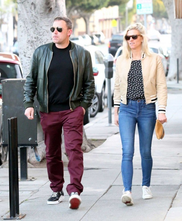Ben Affleck and Lindsay Shookus walk around Los Angeles on March 24