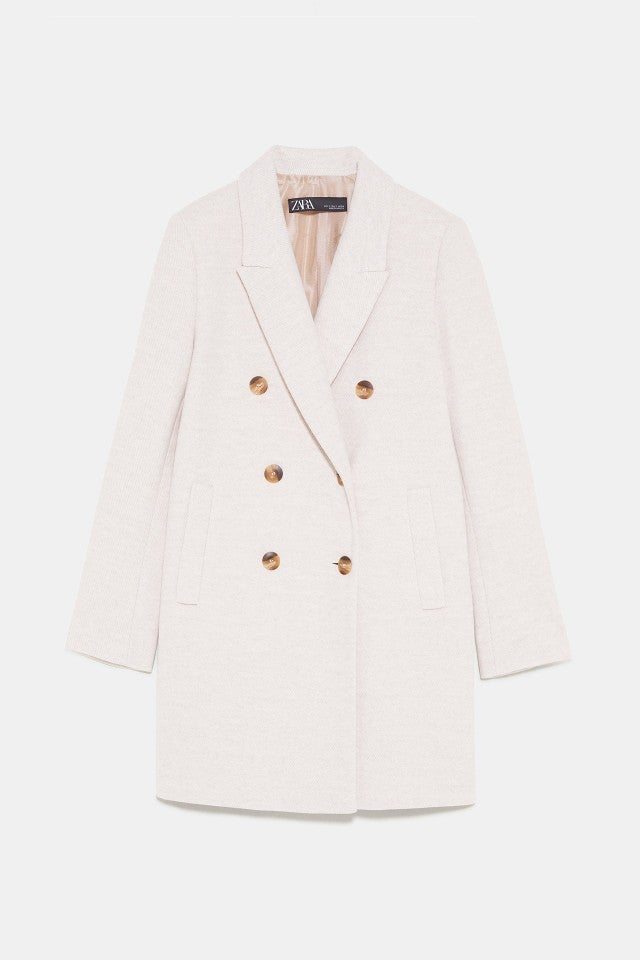 Zara sand colored coat