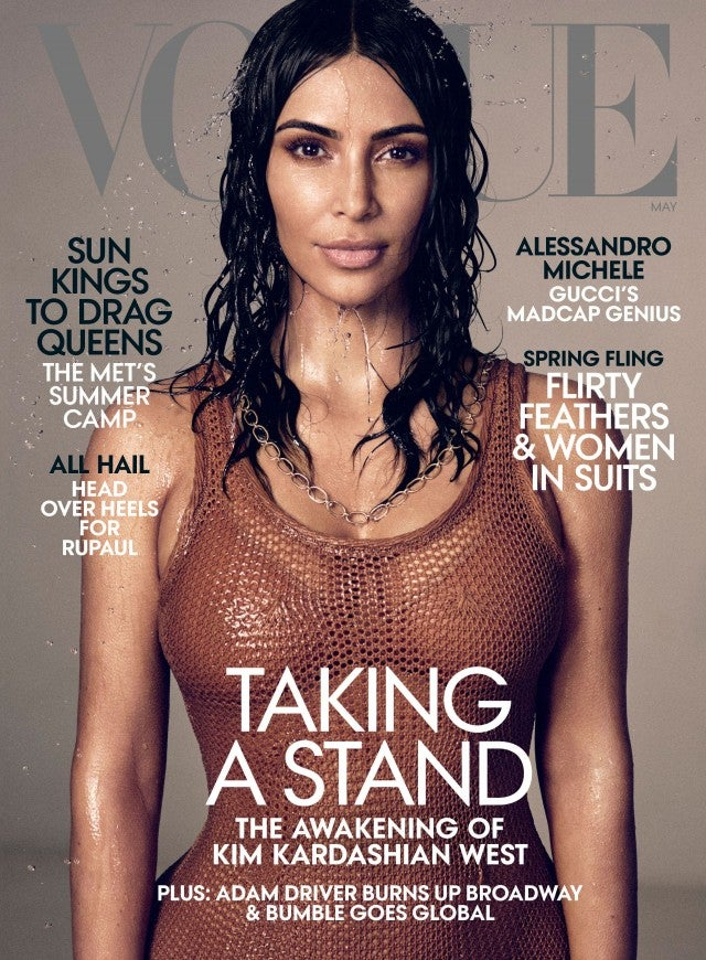 Kim Kardashian West covers Vogue's May 2019 issue