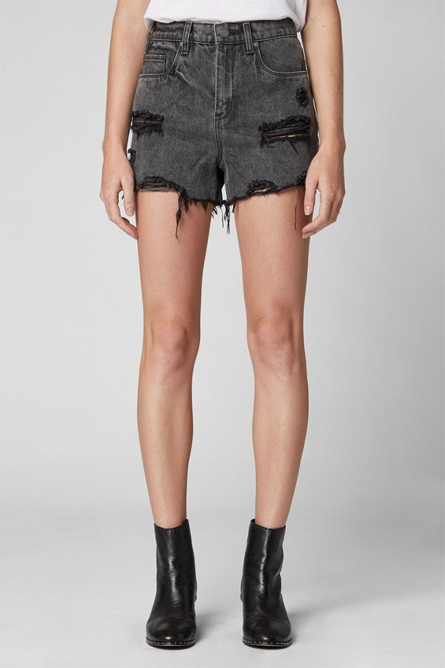 BLANKNYC black distressed denim shorts